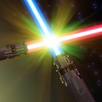 Battle with light sabers