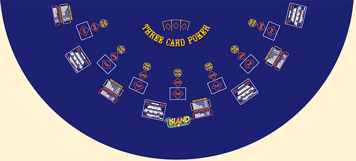 3 Card Poker Table Layout at Island Resort & Casino