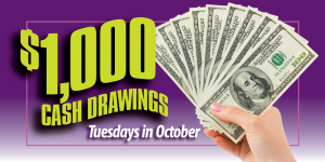 October $1,000 Drawings Web Image