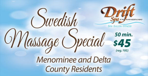 Swedish Massage at Drift Spa Special