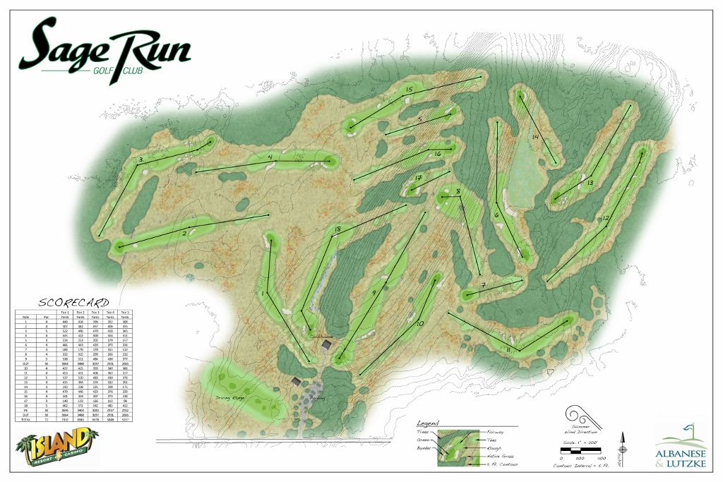 New Sage Run Golf Course in the Upper Peninsula of Michigan Bay Area Golf Courses Map on