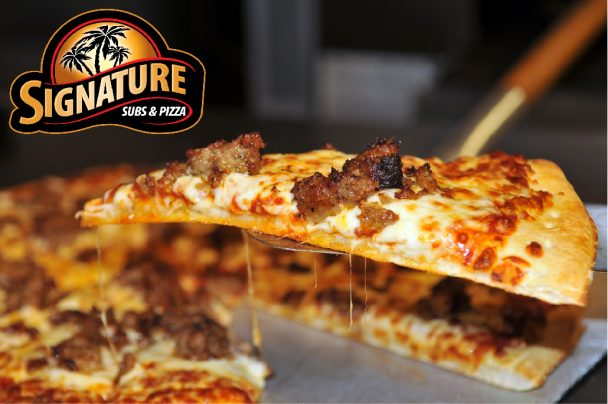 Signature Subs & Pizza Specials for November.
