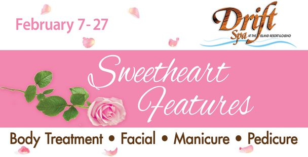 Valentine's Day specials at the Drift Spa.
