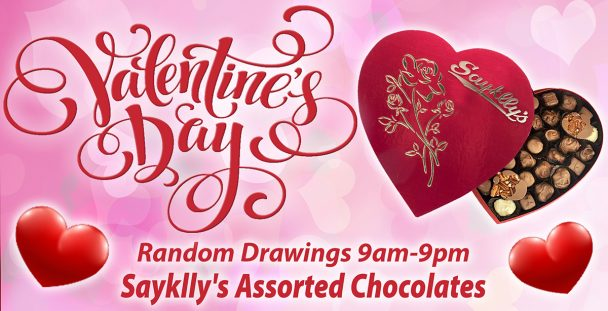 Valentine's Day chocolate giveaway.
