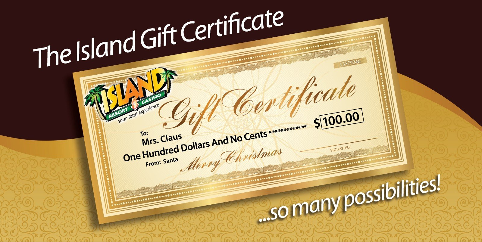 Holiday Gift Certificates Web Image