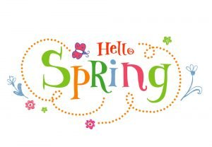 Hello Spring. Funky vector Background