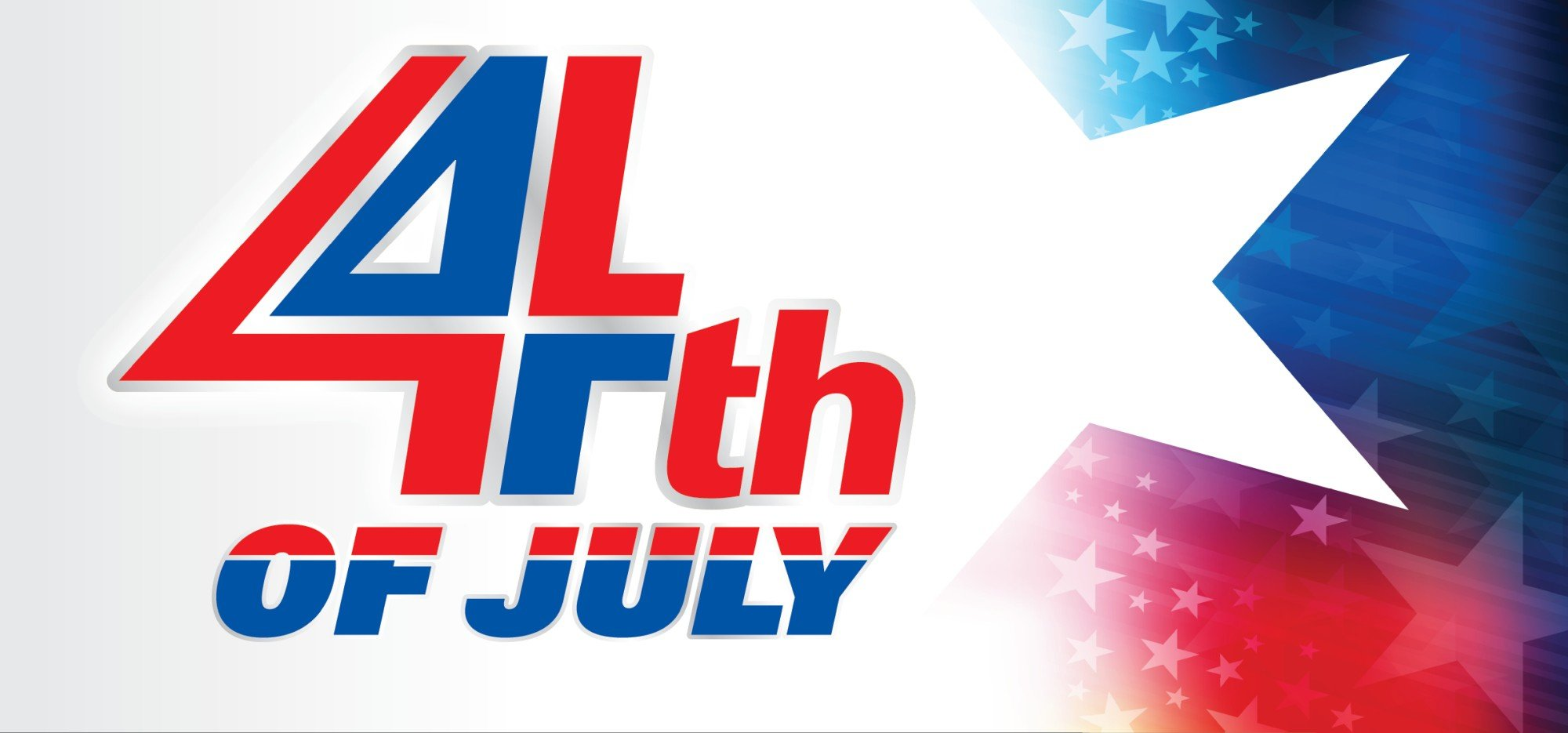 Web Header Promotion - Celebrate the 4th of July