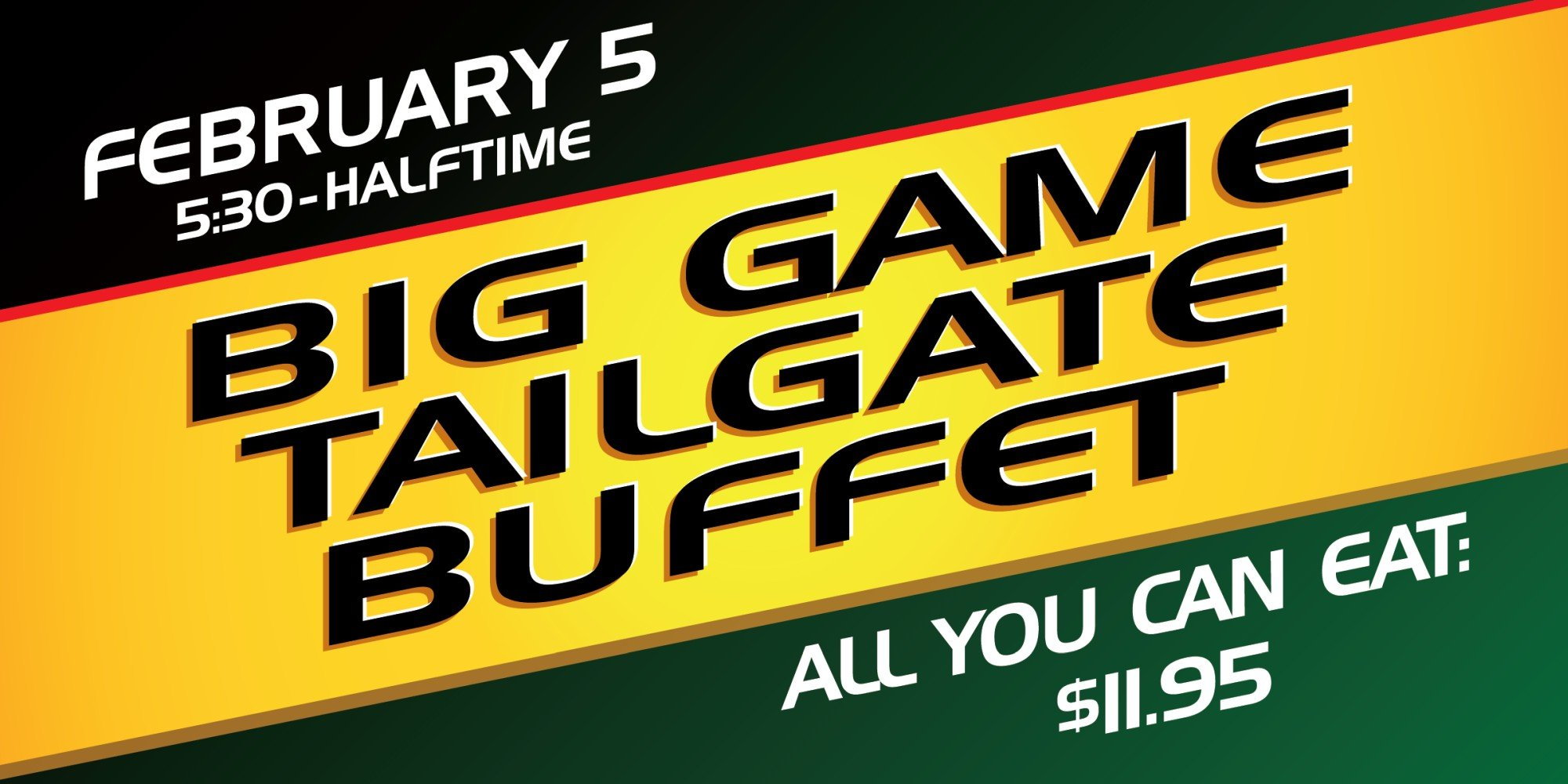 Big Game Tailgate Buffet Web Image