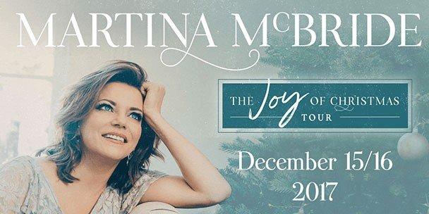 Martina Mcbride: The Joy Of Christmas 2020, December 7 Martina McBride's Joy of Christmas Tour Comes to the Island