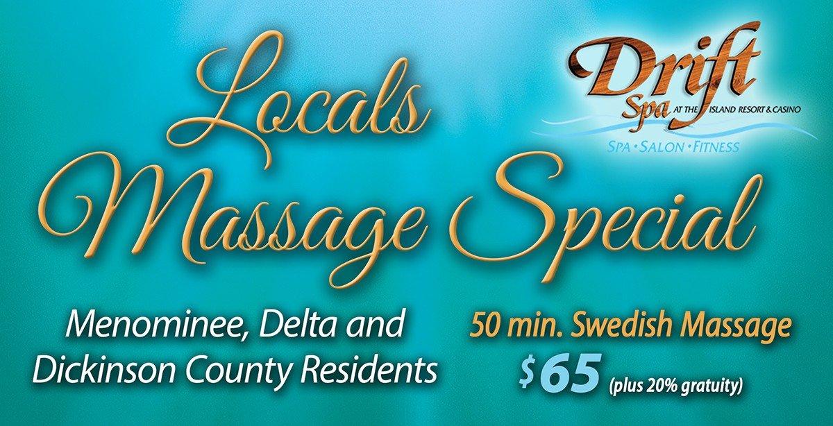 Massage Special for Menominee, Delta & Dickinson Counties