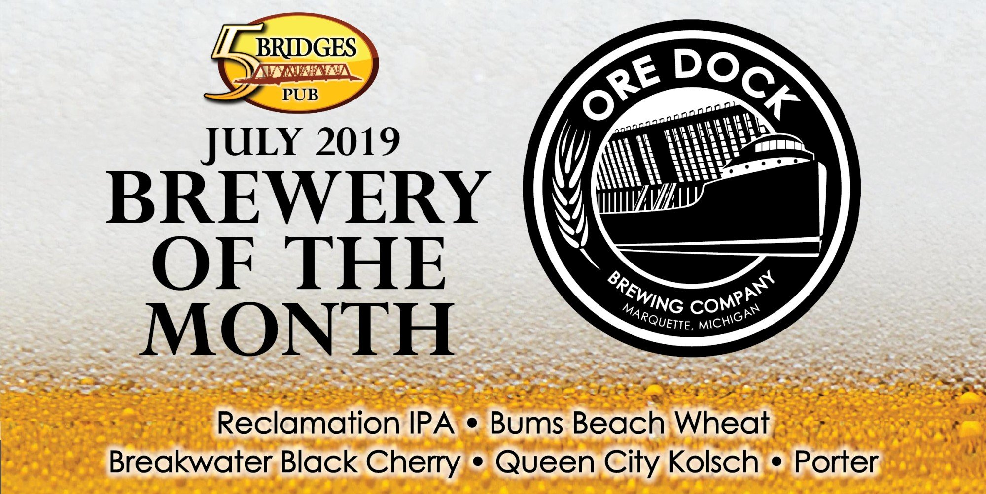 July 2019 Brewery of the Month – Ore Dock Brewing Company