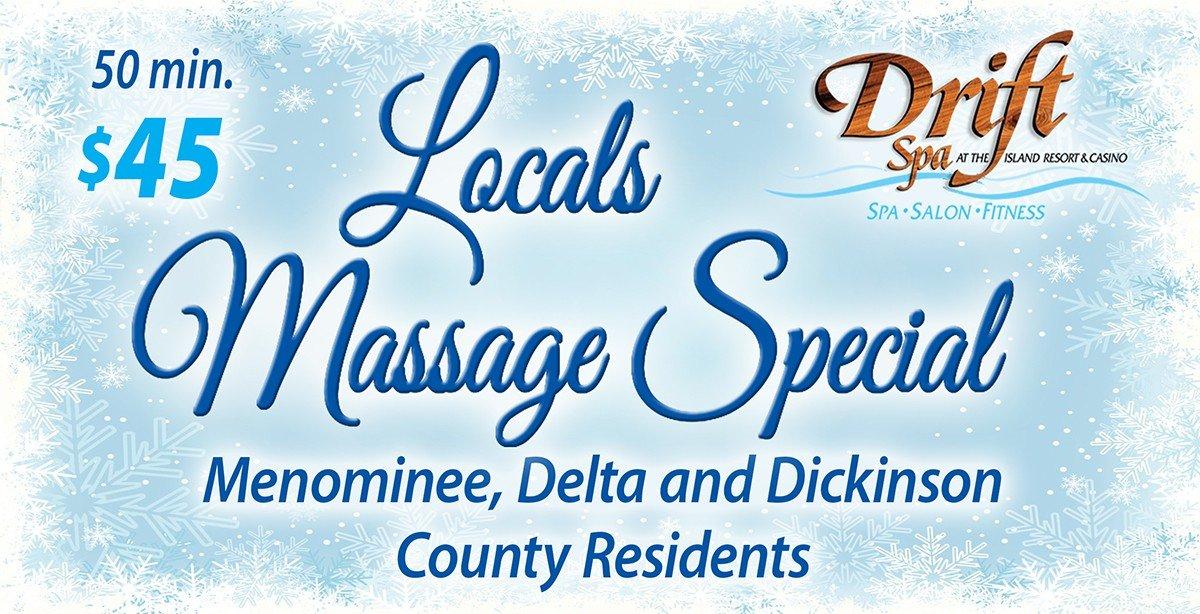 Local Massage Specials.