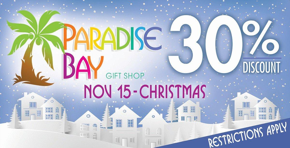 Paradise Bay Gift Shop Specials.