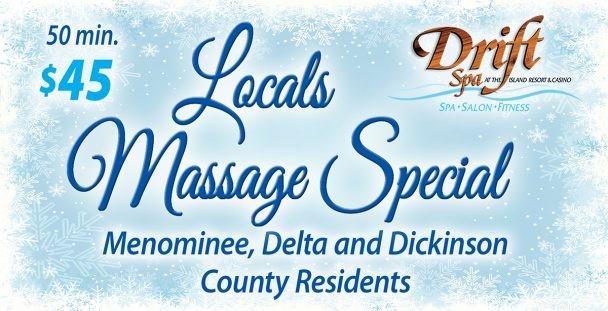 Locals Massage Special